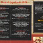 Gran menu di Capodanno 2019